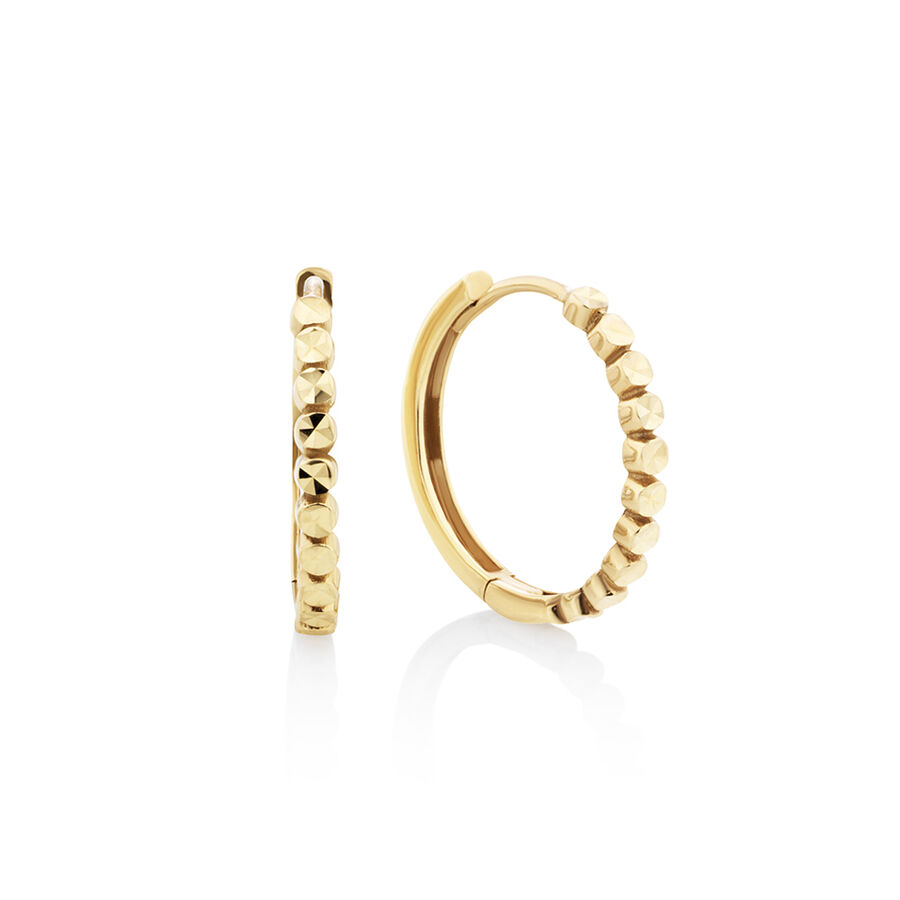 Huggie Earrings in 10kt Yellow Gold
