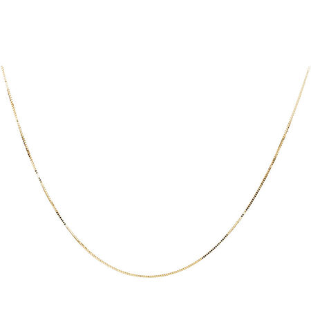 """40cm (16"""") Box Chain in 10kt Yellow Gold"""