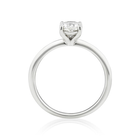 Solitaire Engagement Ring with 1 Carat TW of Diamond in 14kt White Gold