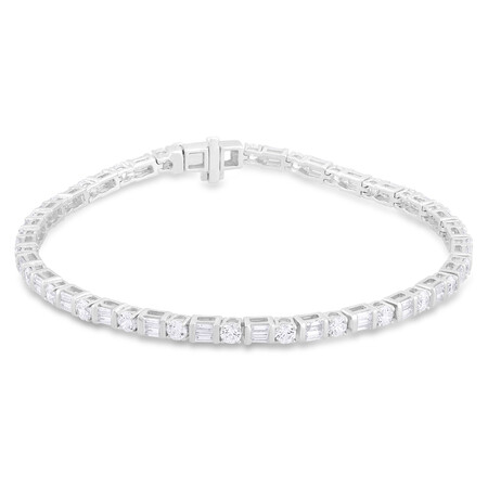 Bracelet with 3.50 Carat TW of Diamonds in 14kt White Gold