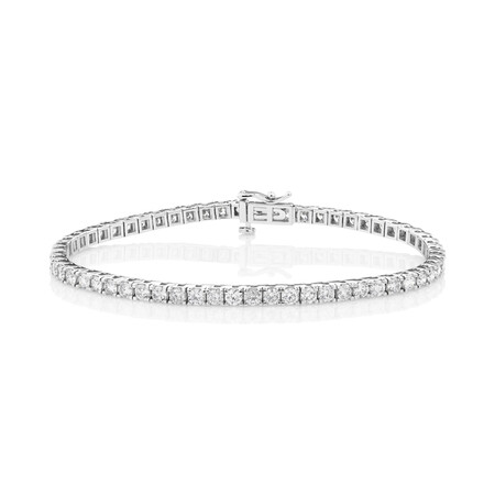 Tennis Bracelet with 5 Carat TW of Diamonds in 10kt White Gold