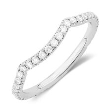 Michael Hill Designer Adagio Wedding Band with 0.39 Carat TW of Diamonds in 14kt White Gold