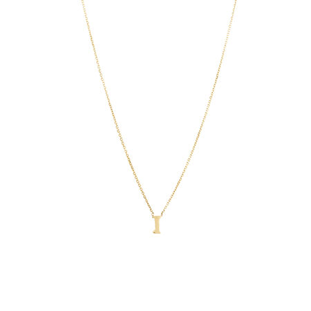 """""""I"""" Initial Pendant in 10kt Yellow Gold"""