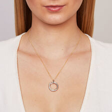 Pendant with Cubic Zirconia in 10kt Yellow & White Gold