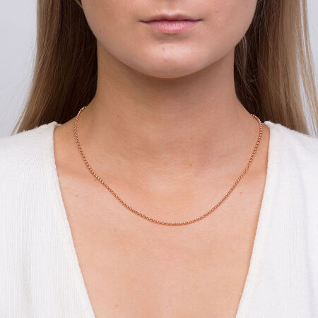 """45cm (18"""") Rolo Chain in 10kt Rose Gold"""