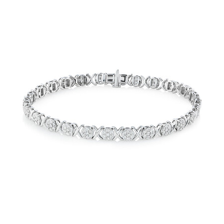 Bracelet With 2 Carat TW of Diamonds In 10kt White Gold