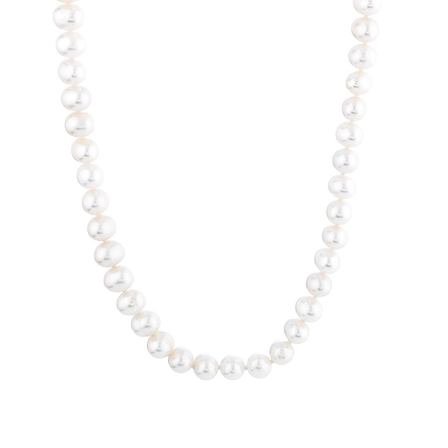 Pearl Necklace in 10kt Yellow Gold