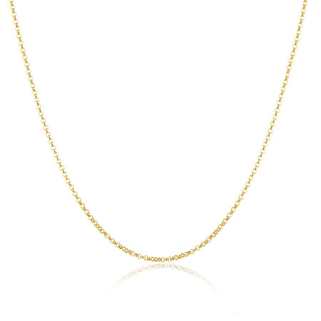 """80cm (32"""") Hollow Rolo Chain in 10kt Yellow Gold"""