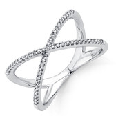 Geometric Ring with 0.20 Carat TW of Diamonds in Sterling Silver