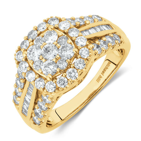 Engagement Ring with 1 1/2 Carat TW of Diamonds in 10kt Yellow Gold