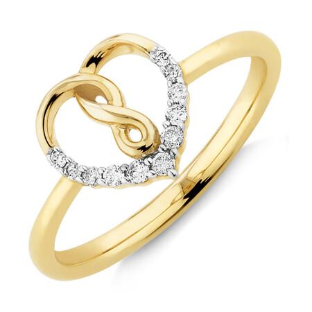 Infinitas Ring With 0.10 Carat TW Of Diamonds In 10kt Yellow Gold