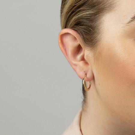 17mm Patterned Hoop Earrings In 10kt Yellow Gold