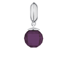 Purple Glass & Sterling Silver Wild Hearts Dangle Charm