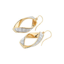 Online Exclusive - Twisted Glitter Hoop Earrings in 10kt Yellow Gold