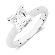 Solitaire Engagement Ring with a 1.45 Carat Diamond in 14kt White Gold