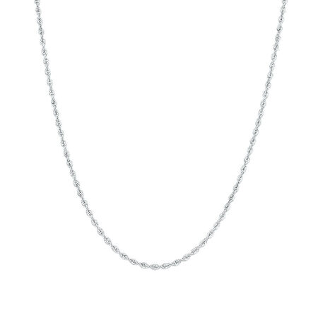 "45cm (18"") Rope Chain in 10kt White Gold"