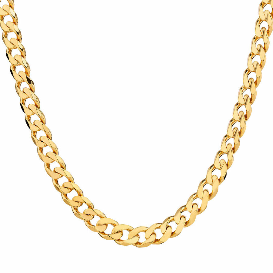"55cm (22"") Solid Curb Chain in 10kt Yellow Gold"