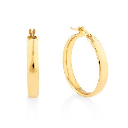 23mm Round Hoop Earring in 10kt Yellow Gold