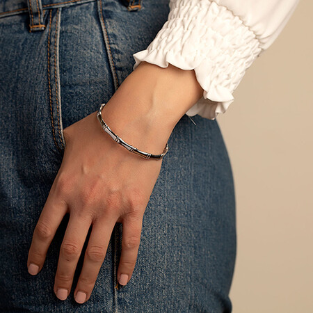 Special Edition Bangle with Diamonds in Sterling Silver
