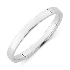 Lite Half Round Wedding Band in Platinum