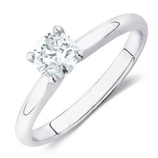 Northern Radiance Solitaire Engagement Ring with a 0.40 Carat TW Certified Canadian Diamond in 14kt White Gold