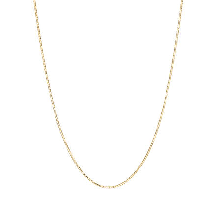 "40cm (16"") Box Chain in 10kt Yellow Gold"