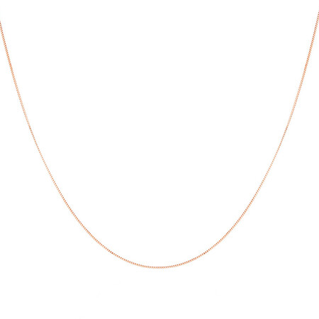 "40cm (16"") Box Chain in 10kt Rose Gold"