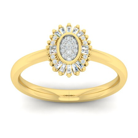 Ring with 0.15 Carat TW of Diamonds in 10kt Yellow Gold