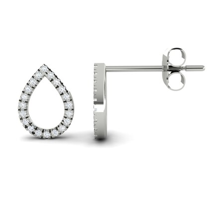 Drop Earrings with Diamonds in 10kt White Gold