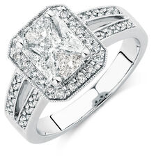 Engagement Ring with 1.15 Carat TW of Diamonds in 14kt White Gold