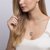 Infinitas Heart Pendant with Diamonds in Sterling Silver