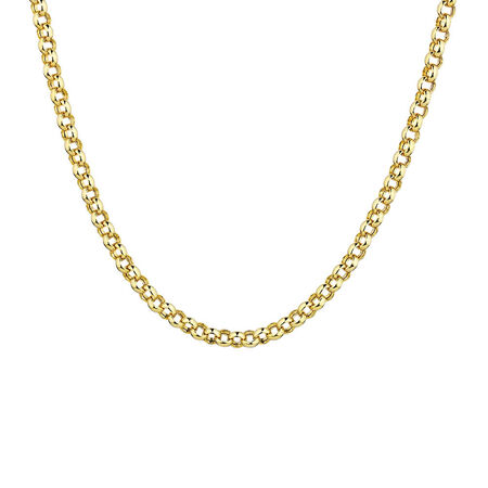 """55cm (22"""") Hollow Rolo Chain in 10kt Yellow Gold"""