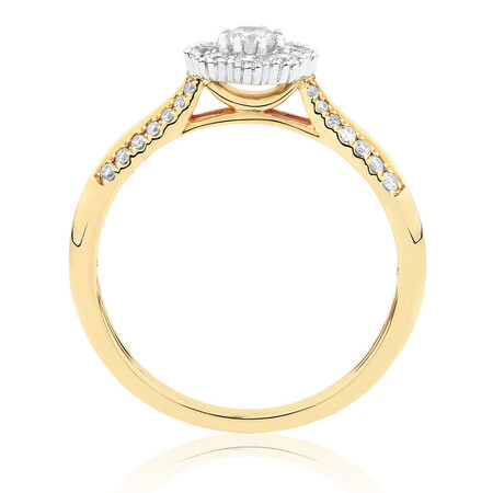 Engagement Ring with 1/2 Carat TW of Diamonds in 10kt Yellow & White Gold