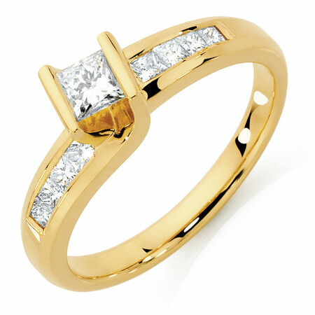 Engagement Ring with 1/2 Carat TW of Diamonds in 14kt Yellow Gold