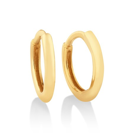 8mm Polished Huggies In 10kt Yellow Gold