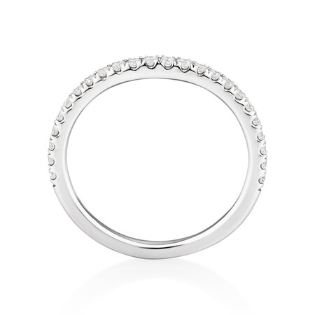 Sir Michael Hill Designer Wedding Band with 0.25 Carat TW of Diamonds in 18kt White Gold