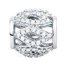1/4 Carat TW Diamond & Sterling Silver Charm