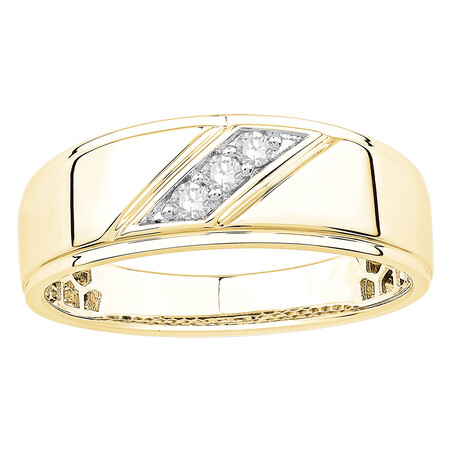 Ring with Champagne Diamonds in 10kt Yellow Gold