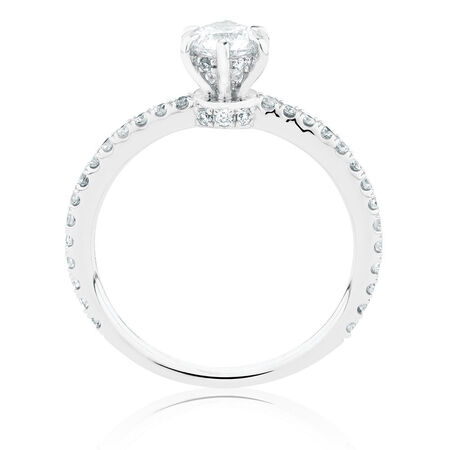 Sir Michael Hill Designer GrandAria Engagement Ring With 0.70 Carat TW Of Diamonds In 14ct White & Rose Gold