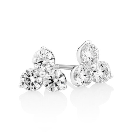 Laboratory-Created 1 Carat TW Diamond Studs in 10ct White Gold