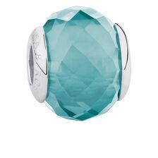 Teal Crystal Charm