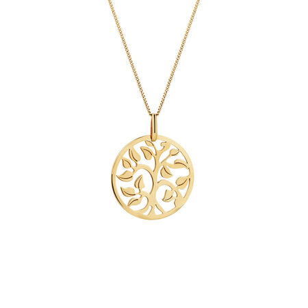 Tree of Life Pendant in 10kt Yellow Gold
