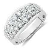 Northern Radiance Ring with 1 Carat TW Certified Canadian Diamonds in 14kt White Gold