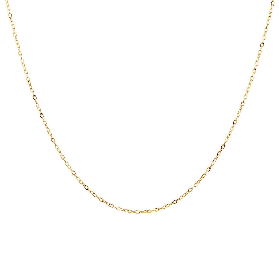 """40cm (16"""") Solid Cable Chain in 10kt Yellow Gold"""