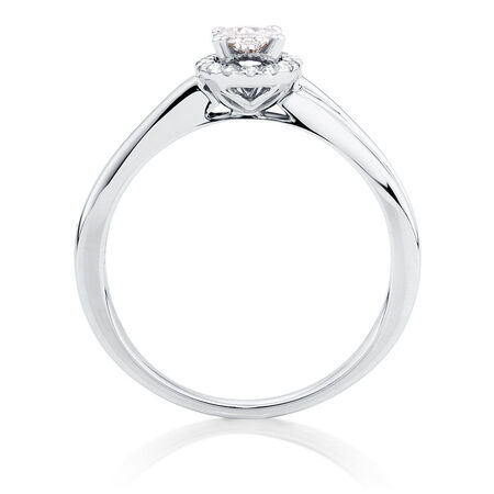 Engagement Ring with 0.33 Carat TW of Diamonds in 14kt White Gold