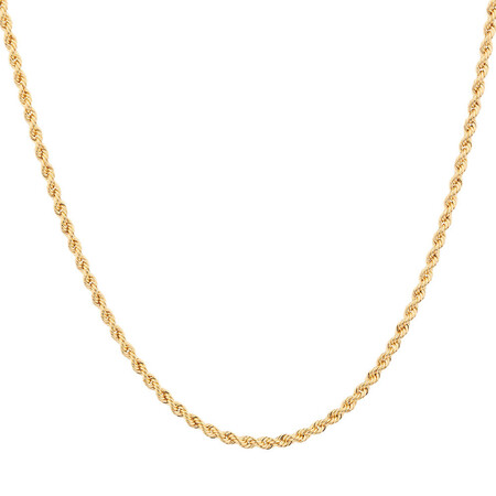 """60cm (24"""") Hollow Rope Chain in 10kt Yellow Gold"""