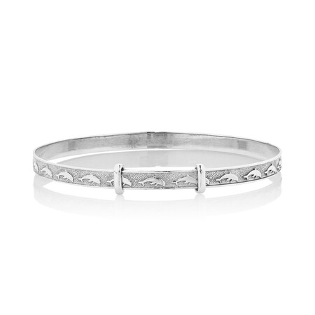 Expandable Baby Bangle in 10kt White Gold
