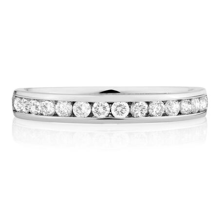 Wedding Band with 1/2 Carat TW of Diamonds in 14kt White Gold