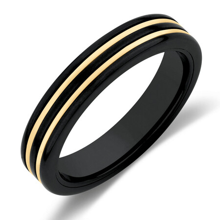 Ring in Black Titanium & 10kt Yellow Gold