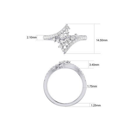 Scatter Ring with 0.50 Carat TW of Diamonds in 10kt White Gold